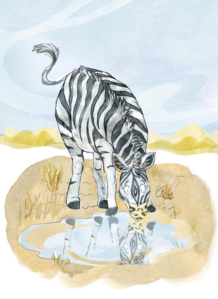 Zebra with mask