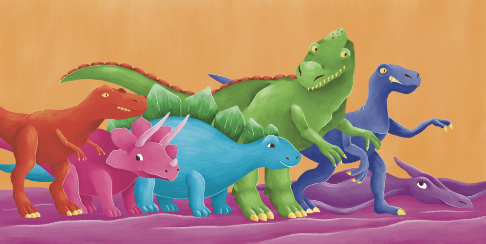 Dinos are ready for action!