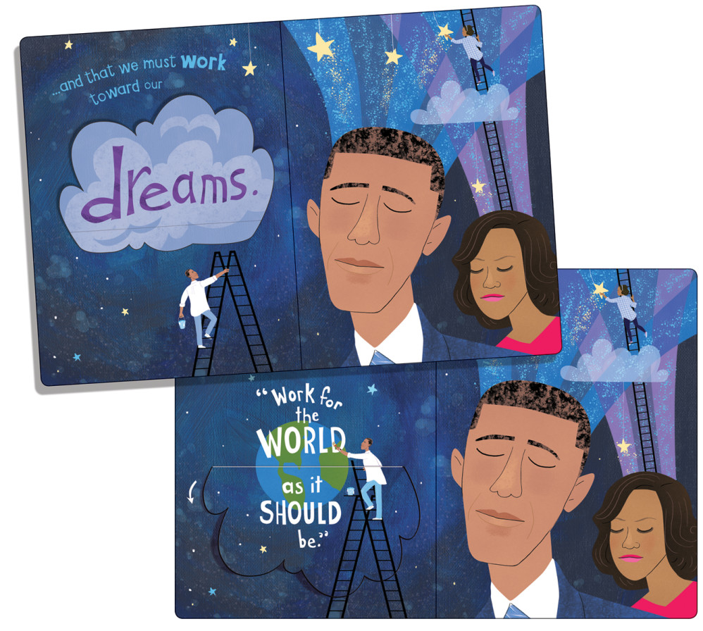 """""""The Obamas: A Lift-the-Flap Book,"""" by Violet Lemay"""