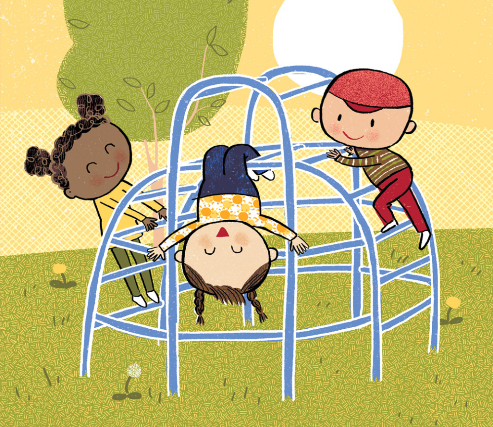 """Detail: Jungle Gym, from """"Healthy, Healthy. Love, Love, Love"""""""