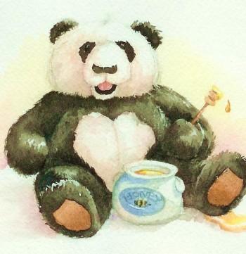 Panda and honey