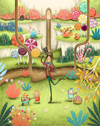 Mr Wonka at the Chocolate Factory