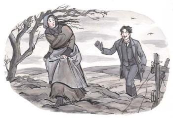 Tess Running from Alec D'Urberville