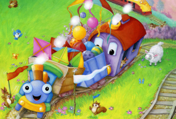 Huff & Puff and the New Train. HarperCollins