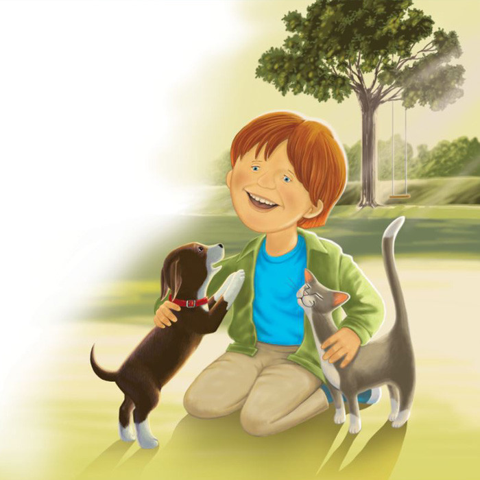 A Boy and His Pets