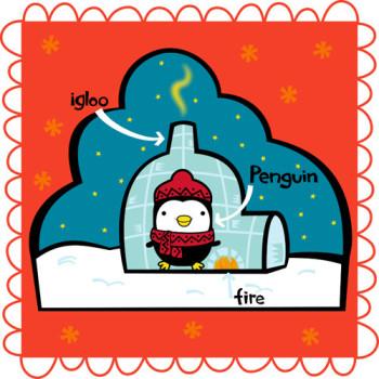 penguin in igloo