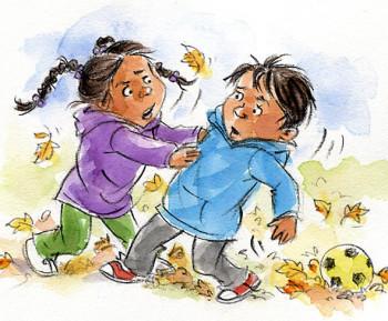 Children quarrel