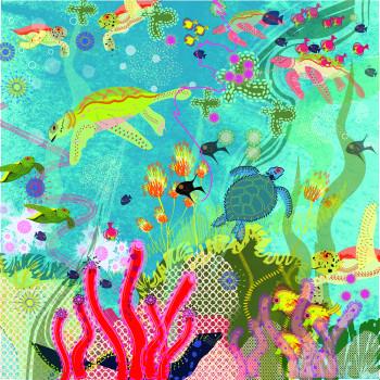 Underwater Sea Turtles
