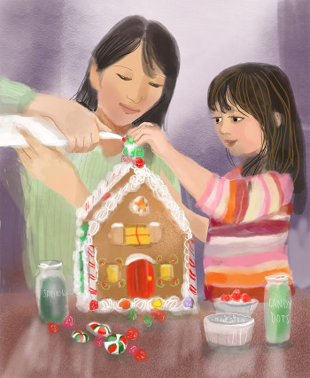 Gingerbread House Baking