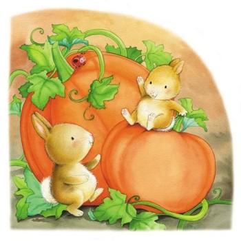 Pumpkins and bunnies