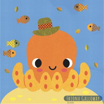 octopus in hat