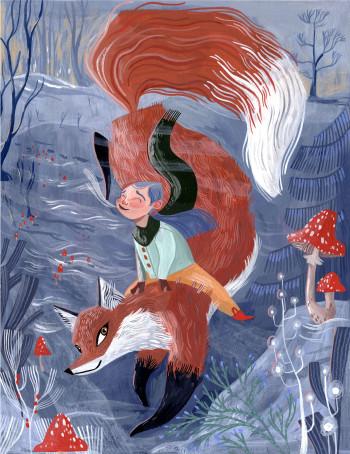 Winter Fox Girl