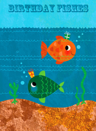 birthday fishes card