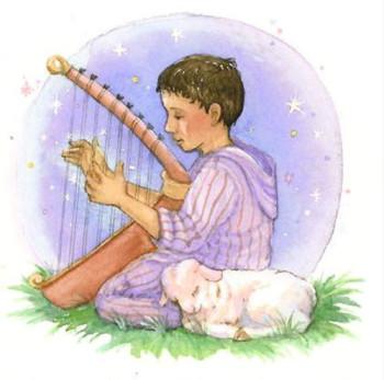 Boy with Harp