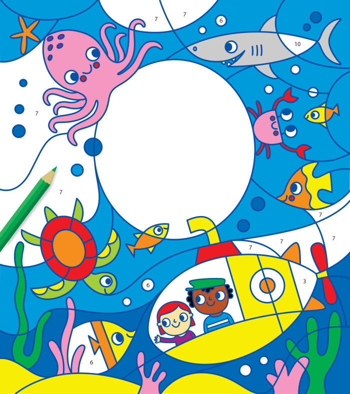 Colour by Numbers - Under the Sea