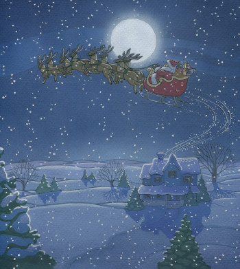 The Night Before Christmas illustrated by Dana Regan for Harper Collins