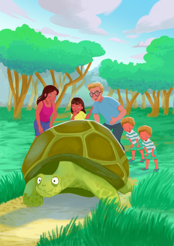 Visiting the Galapagos Tortoises