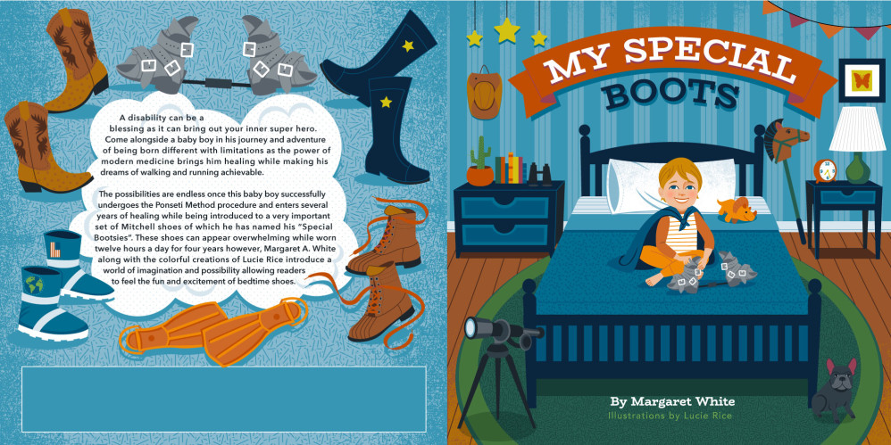 My Special Boots cover design