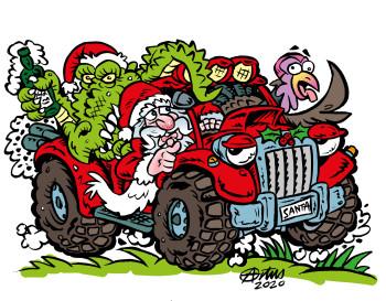 Santa Swamp Truck