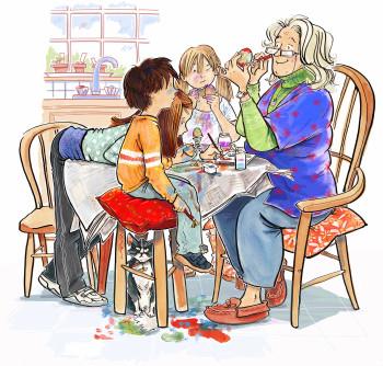 Crafternoon at Grandmas's