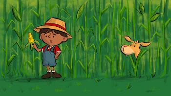 Farmer Samir and goat corn