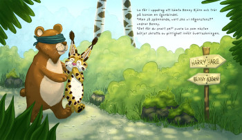 Spread from picture book
