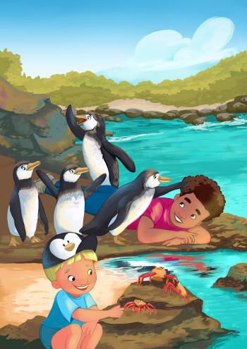 """Get in line"" a Childrens book illustration"