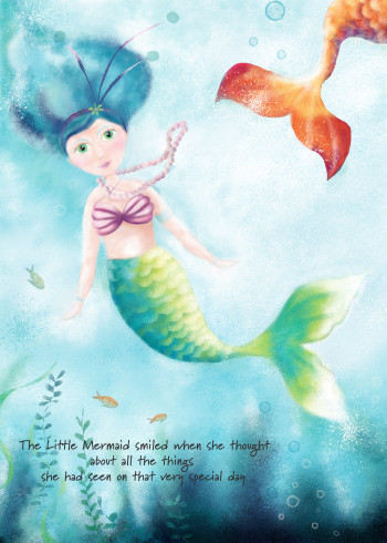 little mermaid finds a friend