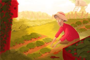 Grandma and Strawberry