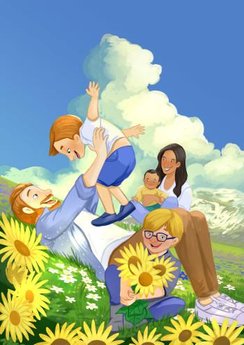 Spring time picnic