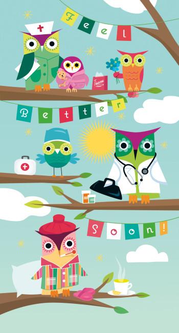 Get Well Soon Owls