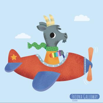 Flying goat!