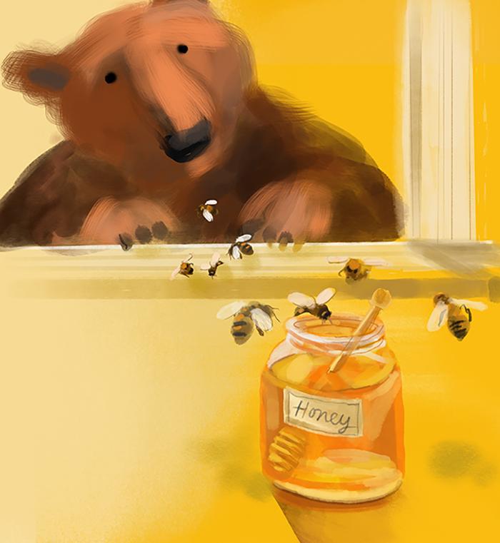 Bear and his honey
