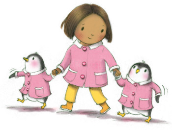 French Rose and her penguins