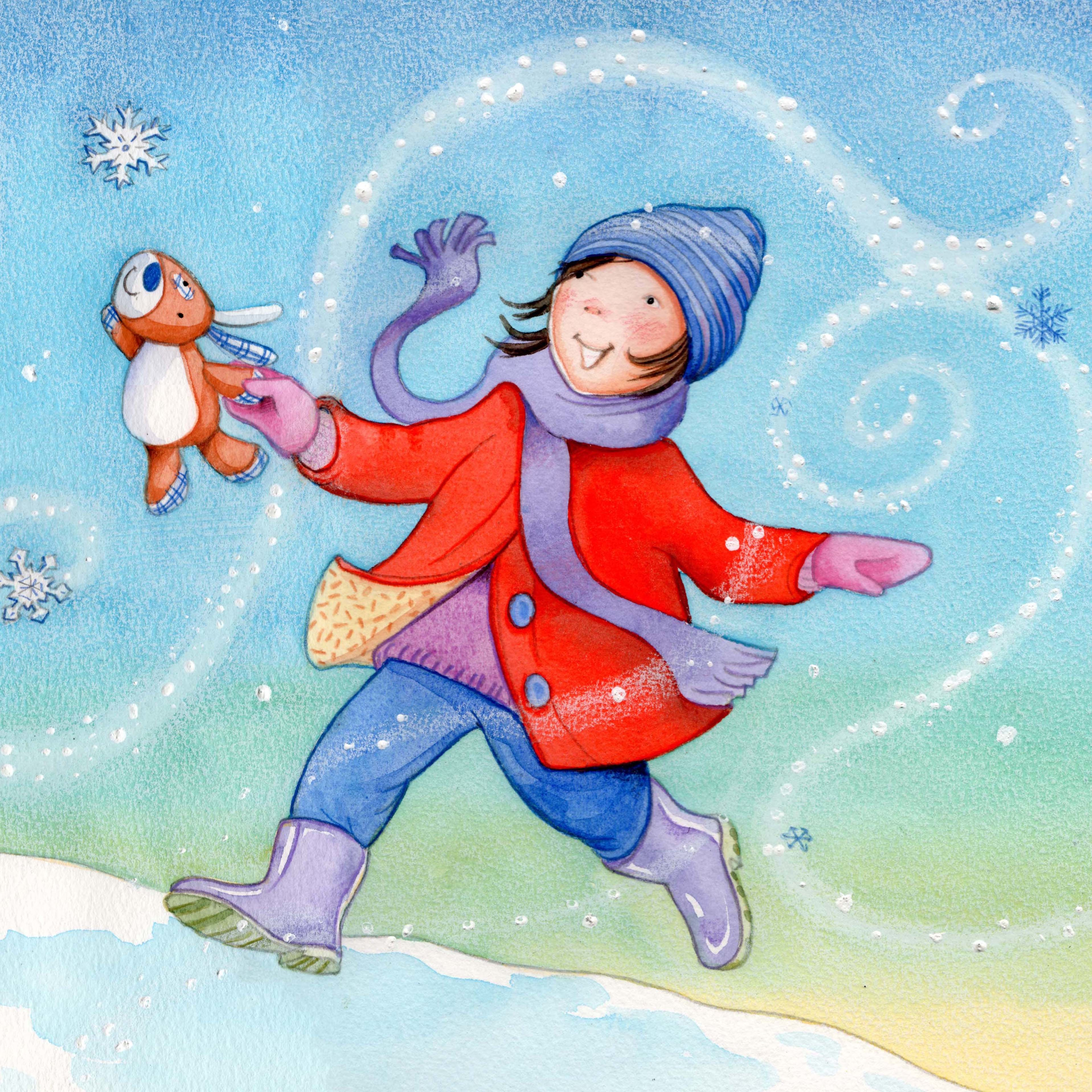 Running through the Snow