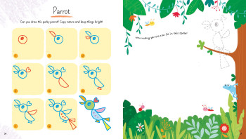 Draw Animals with Simple Shapes _ Parrot
