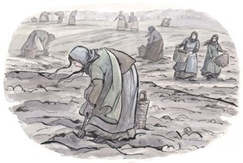 Tess Digging Beet Field