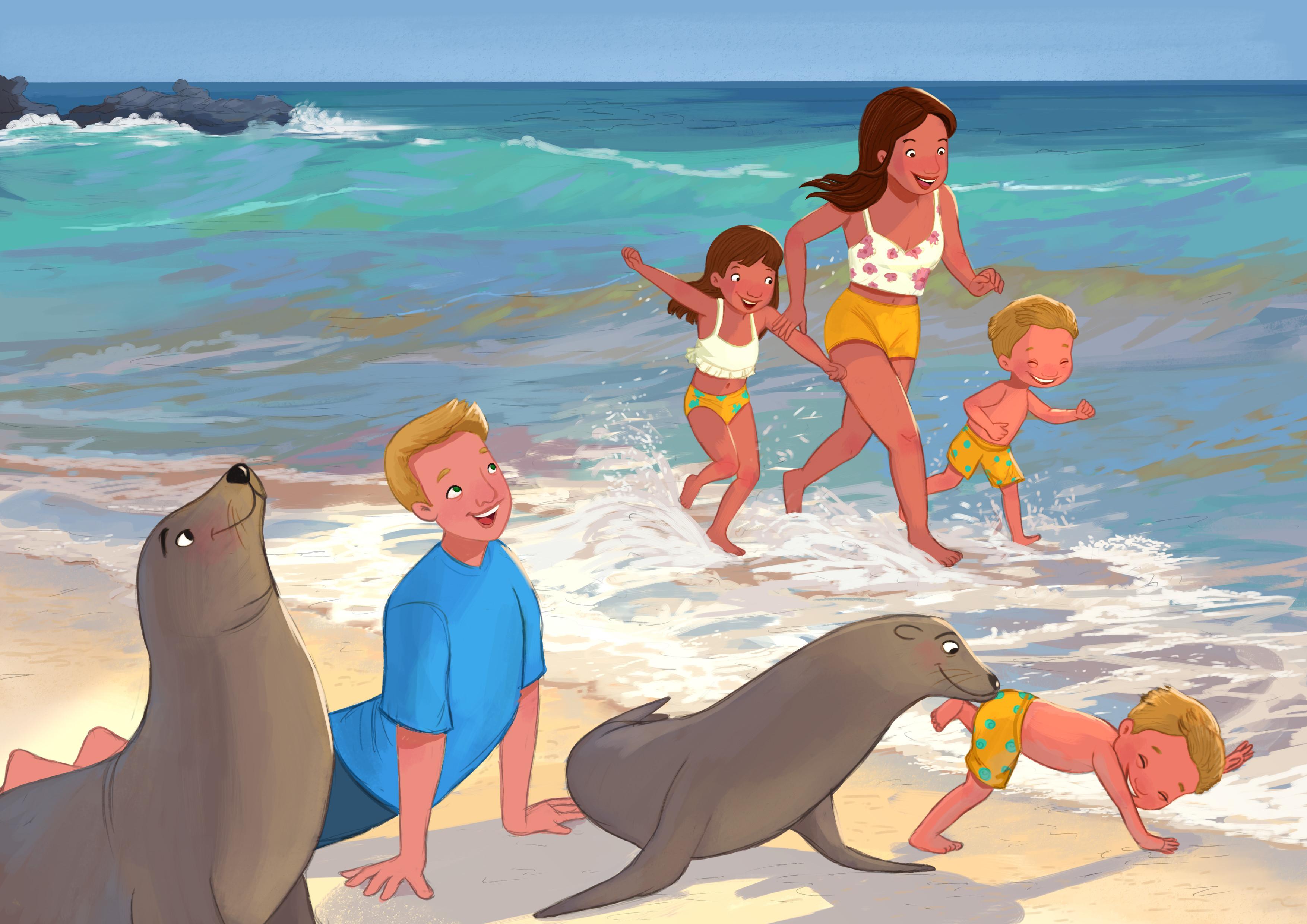 Morning walk in the Galapagos