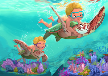 Children's Book Illustration Galapagos Islands