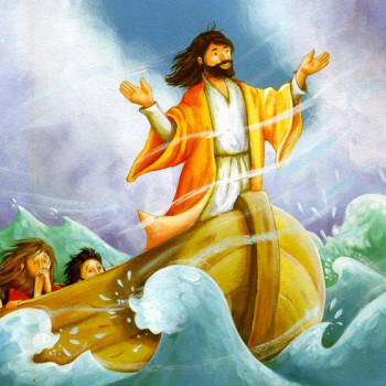 Jesus and the fishermen.Bible for Toddlers. Copenhagen Publishing House
