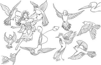 Fairy & Birds