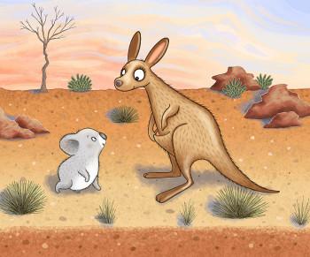 Kati the Kangaroo and Friend