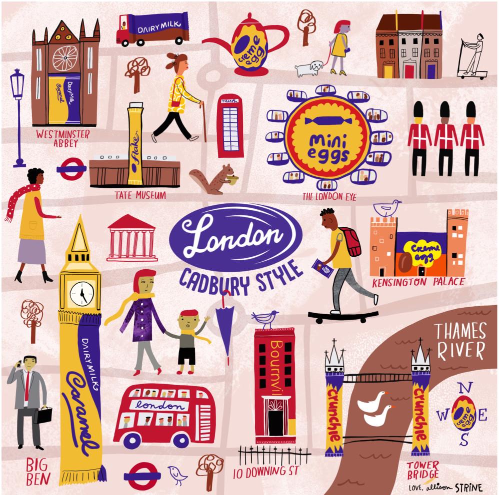 Cadbury Map of London