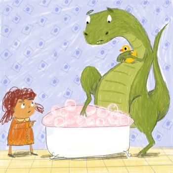T-Rex Needs a Bath