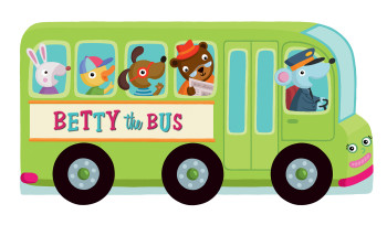 Betty the Bus // Rolling Wheels series, toy and book // YoYo Books // Belgium