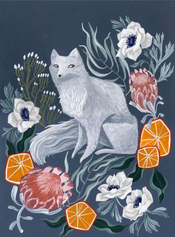 Arctic Fox Floral