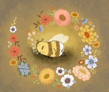 Bella Bee Dreams of Flowers