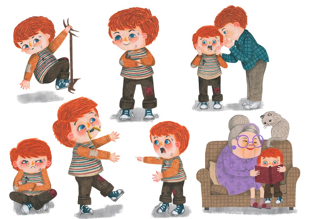 Time Out Timothy emotion and pose development