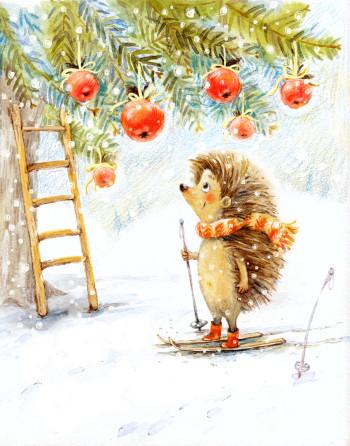 Hedgehog and Apples