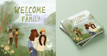 The family in the garden cover